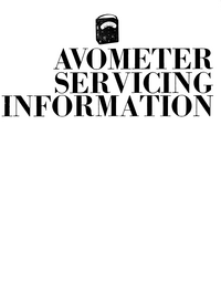 Manuale di servizio AVO Avometer