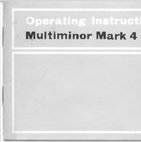 Servicio y Manual del usuario AVO Multiminor Mark 4