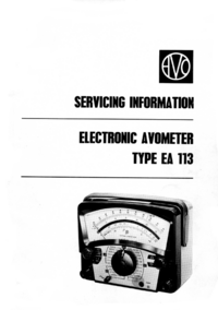 Service Manual AVO EA 113