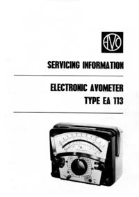 Serviceanleitung AVO EA 113