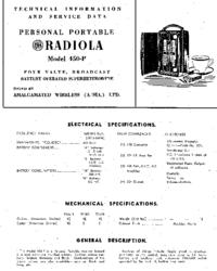 Manual de servicio AWA Radiola 450-P