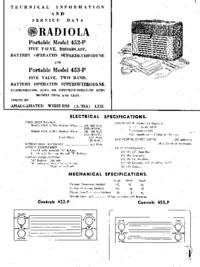 Manual de serviço AWA Radiola 453-P