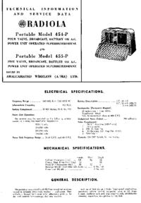 Servicehandboek AWA 454-P