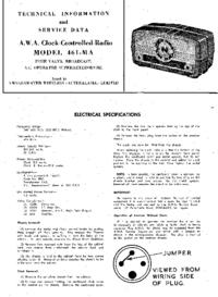 Instrukcja serwisowa AWA 461-MA