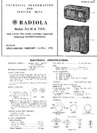 Manuale di servizio AWA Radiola 511-M