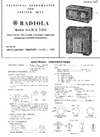 Service and User Manual AWA Radiola 511-M