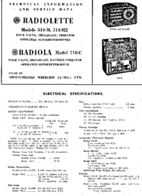 Service and User Manual AWA SRADIOLA Model 718-C