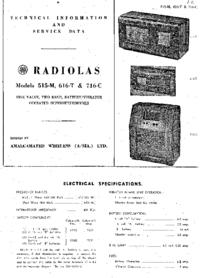 Service Manual AWA RADIOLAS 616-T