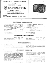 Manual de serviço AWA RADIOLETTE 516-M