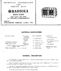 Serviceanleitung AWA RADIOLA 518-M