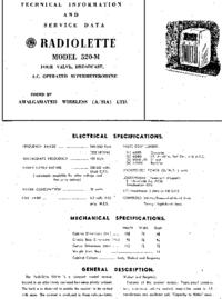 Servicehandboek AWA RADIOLETTE 520-M