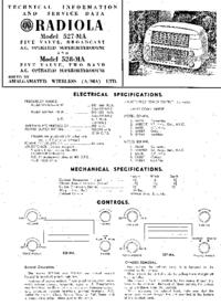 Serviceanleitung AWA RADIOLA 528-MA