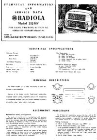 Manual de servicio AWA RADIOLA 532-MF