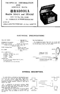manuel de réparation AWA RADIOLA 535-GA
