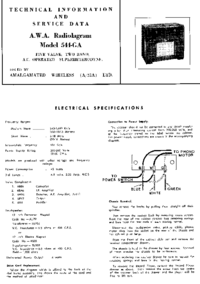 Service Manual AWA Radiolagram 544-GA