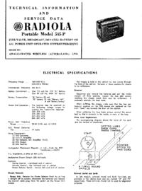 Руководство по техническому обслуживанию AWA RADIOLA Portable 545-P