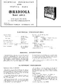 manuel de réparation AWA RADIOLA 550-GA