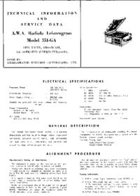 Обслуживание и Руководство пользователя AWA 551-GA