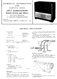 Service and User Manual AWA RADIOLAGRAMS 554-GA