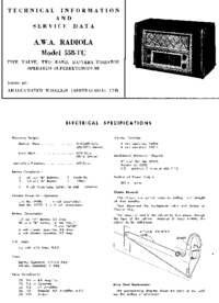 Servicio y Manual del usuario AWA RADIOLA 558-TC