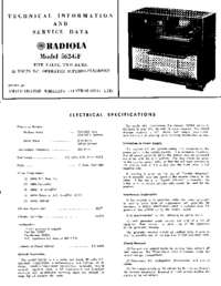 Service and User Manual AWA RADIOLA 562-GF