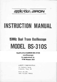 Serwis i User Manual Aaron BS-310S