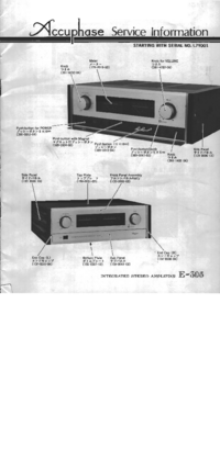 Manual de servicio Accuphase E-305