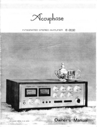 Manuale d'uso Accuphase E-202