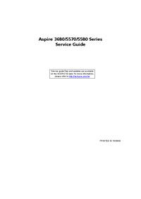 Руководство по техническому обслуживанию Acer Aspire 5580