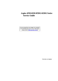 Service Manual Acer Aspire 4520