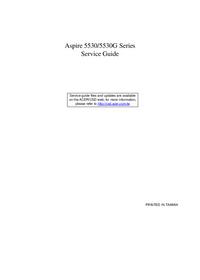 Manuale di servizio Acer Aspire 5530G