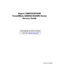 Service Manual Acer TravelMate 4230