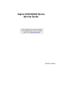 Руководство по техническому обслуживанию Acer Aspire 6930G