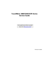 Serviceanleitung Acer TravelMate 3270 Series