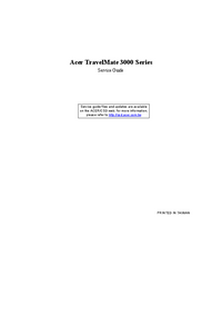 Service Manual Acer TravelMate 3000 Series