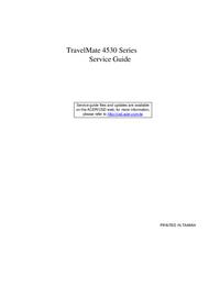 Instrukcja serwisowa Acer TravelMate 4530 Series