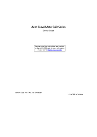 manuel de réparation Acer TravelMate 540 Series