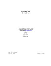 Manuale di servizio Acer TravelMate 350