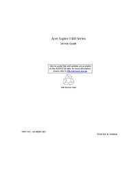 Manual de servicio Acer Aspire 1300 Series