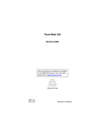 Manual de servicio Acer Travel Mate 330