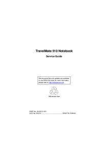 Manuale di servizio Acer TravelMate 510