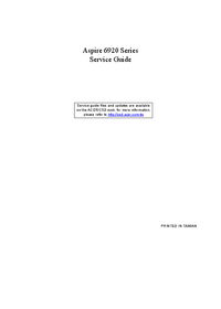 Manual de servicio Acer Aspire 6920 Series