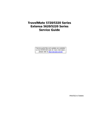 Manual de servicio Acer TravelMate 5320 Series