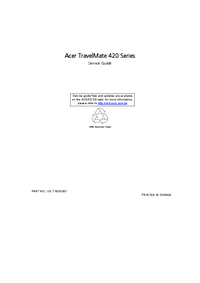 Service Manual Acer TravelMate 420 Series