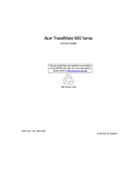 Service Manual Acer TravelMate 660 Series