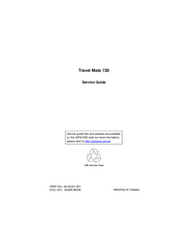 Manual de servicio Acer Travel Mate 720