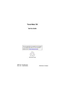 Instrukcja serwisowa Acer Travel Mate 720