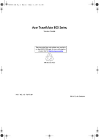Service Manual Acer TravelMate 800 Series