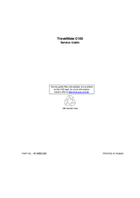 Service Manual Acer TravelMate C100