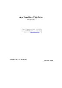 Manuale di servizio Acer TravelMate C300 Series